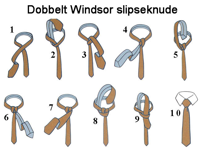 Dobbelt Windsor slipseknude